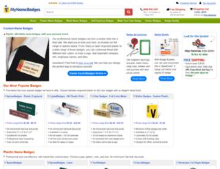 mynamebadges.com screenshot