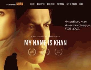 mynameiskhanthefilm.com screenshot