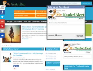 mynaukrialert.in screenshot
