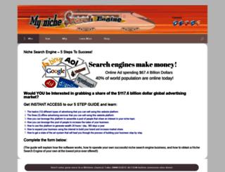 mynichesearchengine.com screenshot