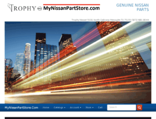 mynissanparts.com screenshot