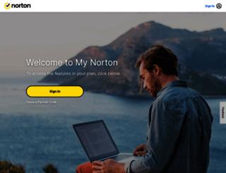 mynortonaccount.com screenshot