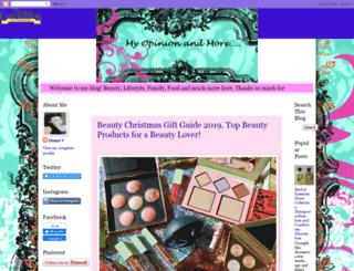 myopinionandmoreblog.blogspot.ca screenshot