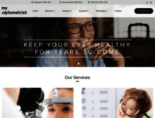 myoptometrist.com.au screenshot