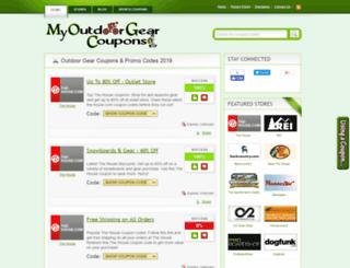 myoutdoorgearcoupons.com screenshot