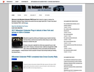 myoutlanderphev.com screenshot