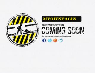 myownpages.com screenshot
