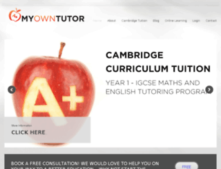 myowntutor.co.za screenshot