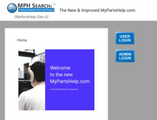 mypartshelp.com screenshot