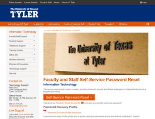 mypassword.uttyler.edu screenshot