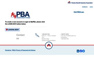 mypba.pbgc.gov screenshot