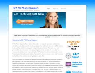 mypcphonesupport.com screenshot