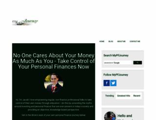 mypersonalfinancejourney.com screenshot