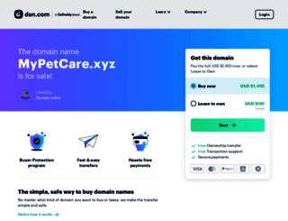 mypetcare.xyz screenshot