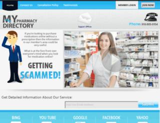 mypharmacydirectory.com screenshot