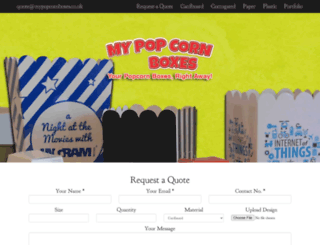 mypopcornboxes.co.uk screenshot