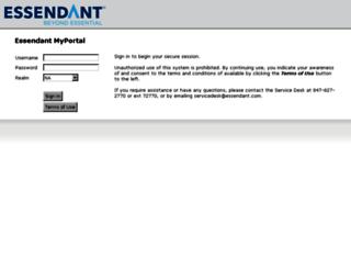 myportal.ussco.com screenshot