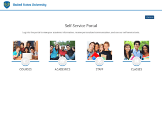 myportal.usuniversity.edu screenshot