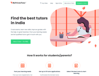 myprivatetutor.com screenshot