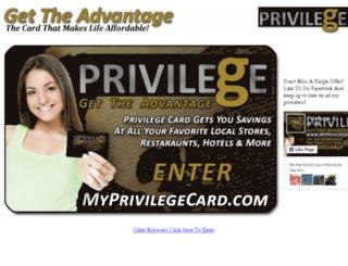 myprivilegecard.com screenshot