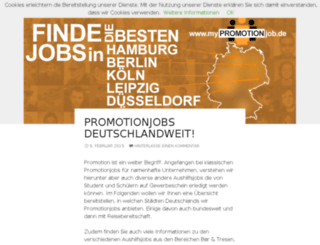 mypromotionjob.de screenshot