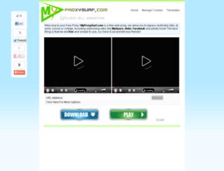myproxysurf.com screenshot