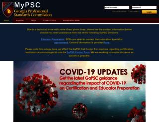 mypsc.gapsc.org screenshot