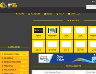 myradiolisten.com screenshot