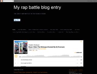 myrapbattleblogentry.blogspot.com screenshot