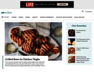 myrecipes.com screenshot
