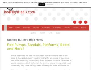 myredhighheels.com screenshot