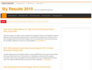 myresult2015.in screenshot