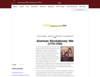 myrevolutionarywar.com screenshot