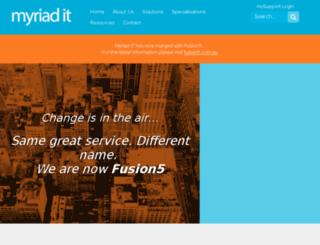 myriad-it.com screenshot