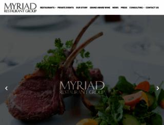 myriadrestaurantgroup.com screenshot