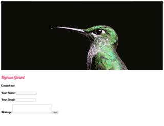 myriamgirard.com screenshot