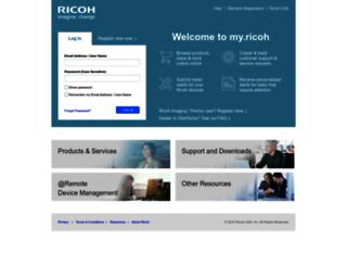 myricoh.com screenshot