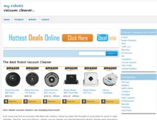 myroboticvacuumcleaner.com screenshot