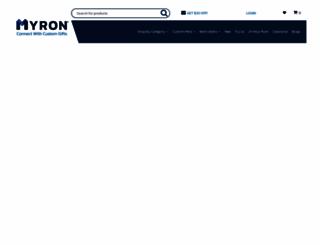 myron.com screenshot