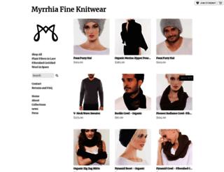 myrrhia.storenvy.com screenshot