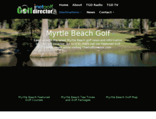 myrtlebeach.thegolfdirector.com screenshot