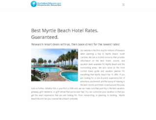 myrtlebeachresorts.com screenshot