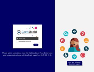 myrus.careshield.co.uk screenshot