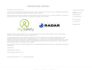 mysafety.pl screenshot