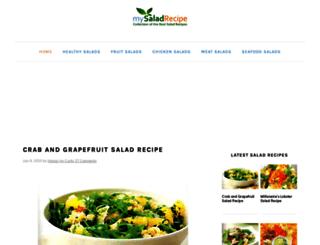 mysaladrecipe.com screenshot