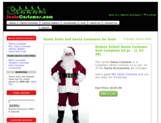 mysantasuit.com screenshot