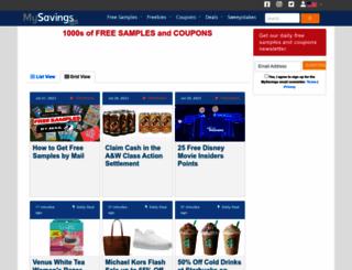 mysavings.com screenshot