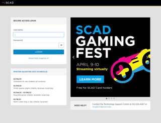 myscad.scad.edu screenshot