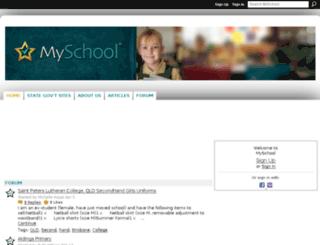 myschoolaustralia.ning.com screenshot