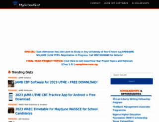 myschoolgist.com screenshot